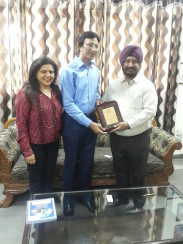Guest Of Honour Trophy from the Director of a prestigious Engineering College of Punjab