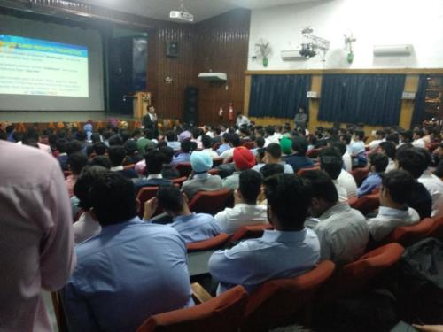 Pre Placement Training for B.Tech Students of a leading Engineering college, Chandigarh